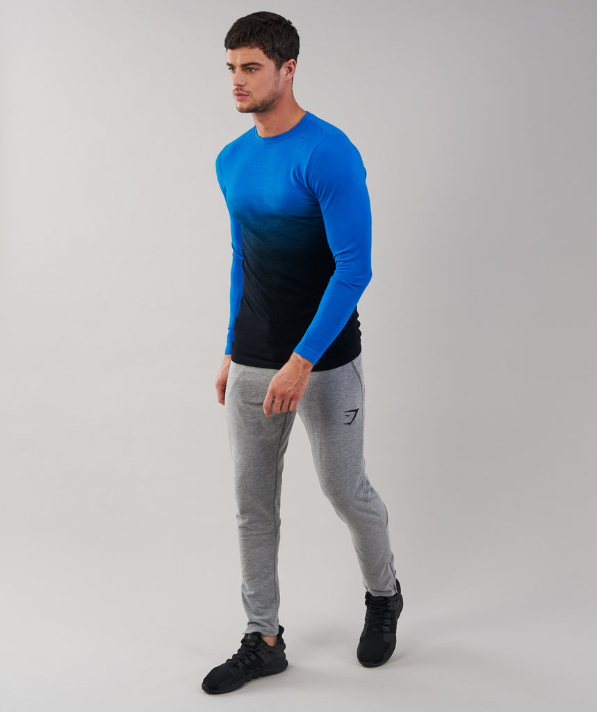 Gymshark Ombre Long Sleeve T-Shirt - Dive Blue/Black 2