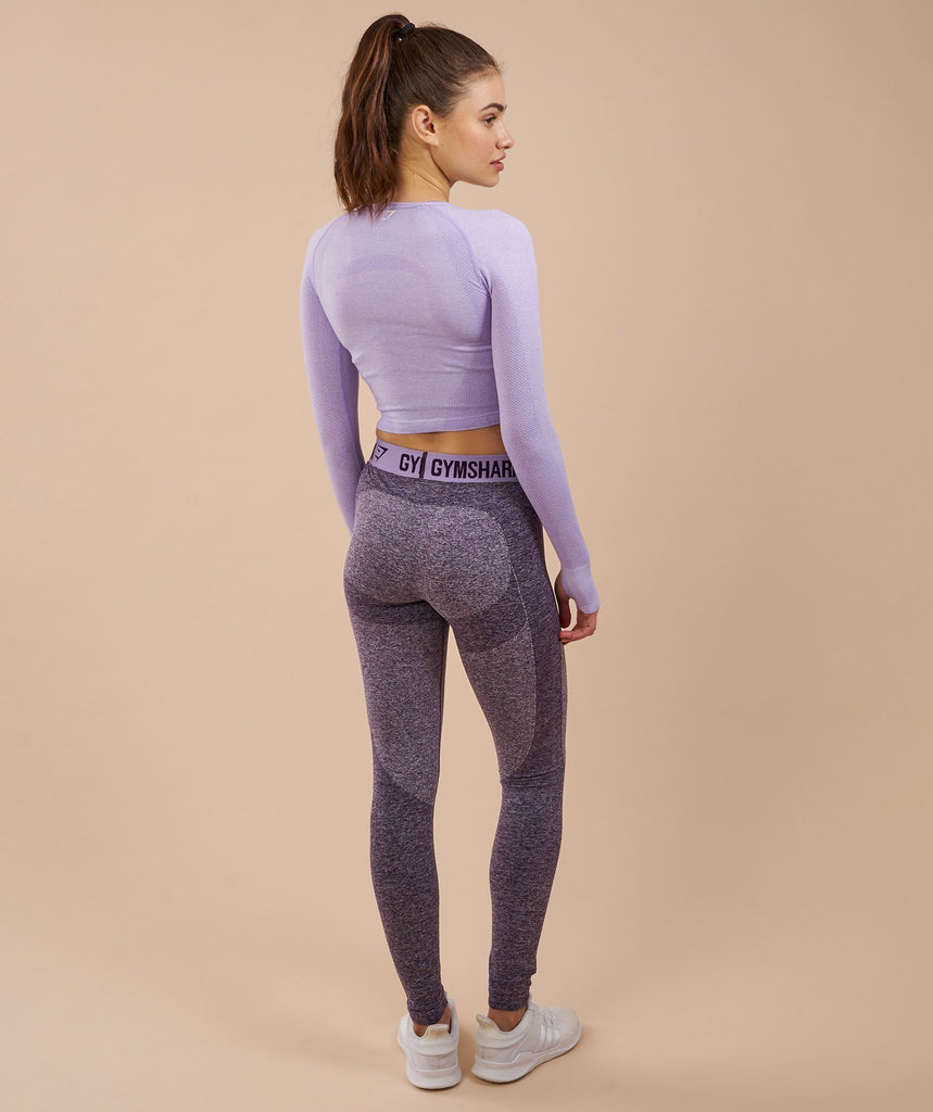 Gymshark Flex Leggings - Rich Purple Marl/Soft Lilac 2