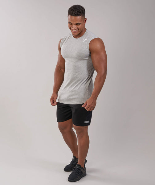 Gymshark Ark Sleeveless T-Shirt - Light Grey Marl 3