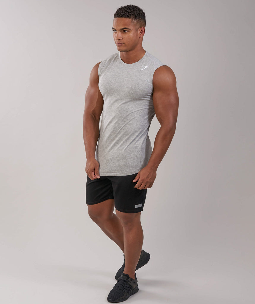 Gymshark Ark Sleeveless T-Shirt - Light Grey Marl 5