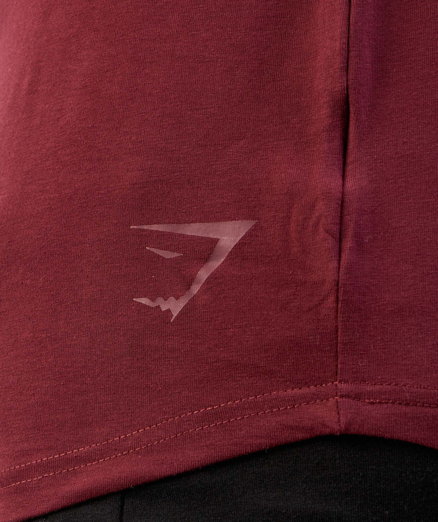 Gymshark Solace Longline Long Sleeve T-shirt - Port