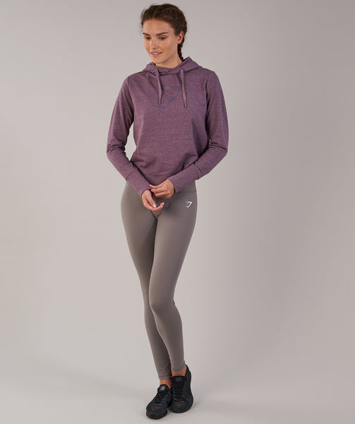 Gymshark Cross Back Hoodie - Purple Wash Marl 2