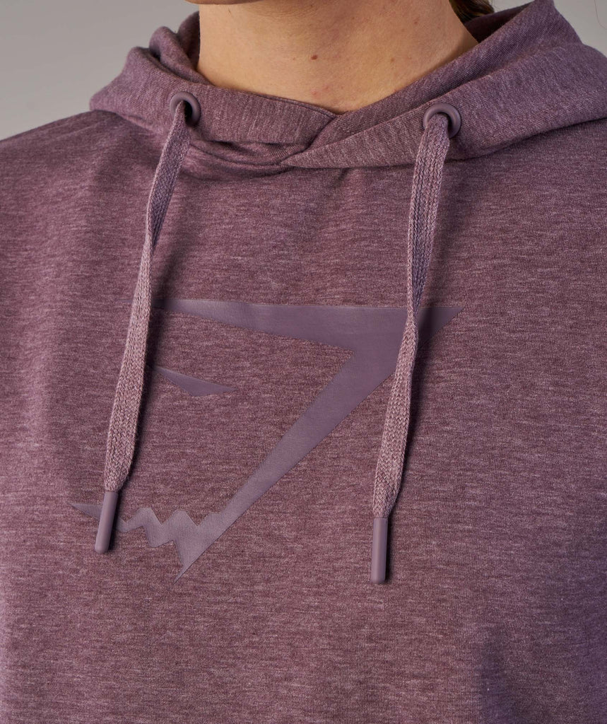 Gymshark Cross Back Hoodie - Purple Wash Marl 5
