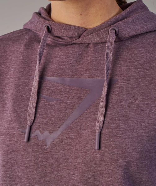 Gymshark Cross Back Hoodie - Purple Wash Marl 4