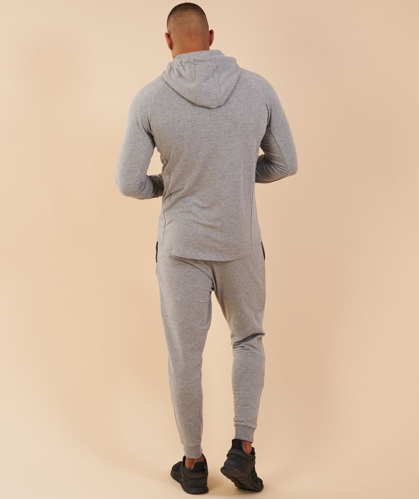 Gymshark Eaze Zip Hoodie - Light Grey 2
