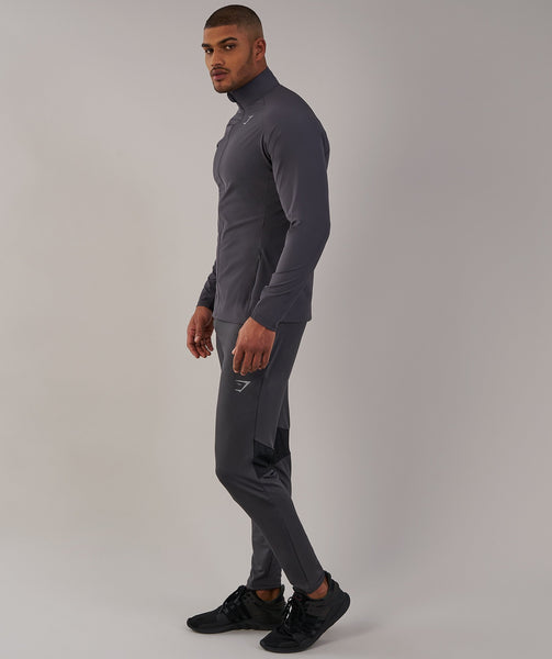 Gymshark Gravity Track Top - Charcoal/Black 2