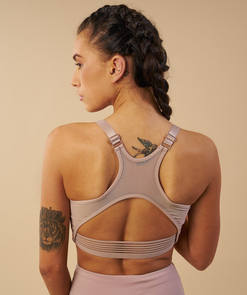 Gymshark Elite Sports Bra - Taupe 6