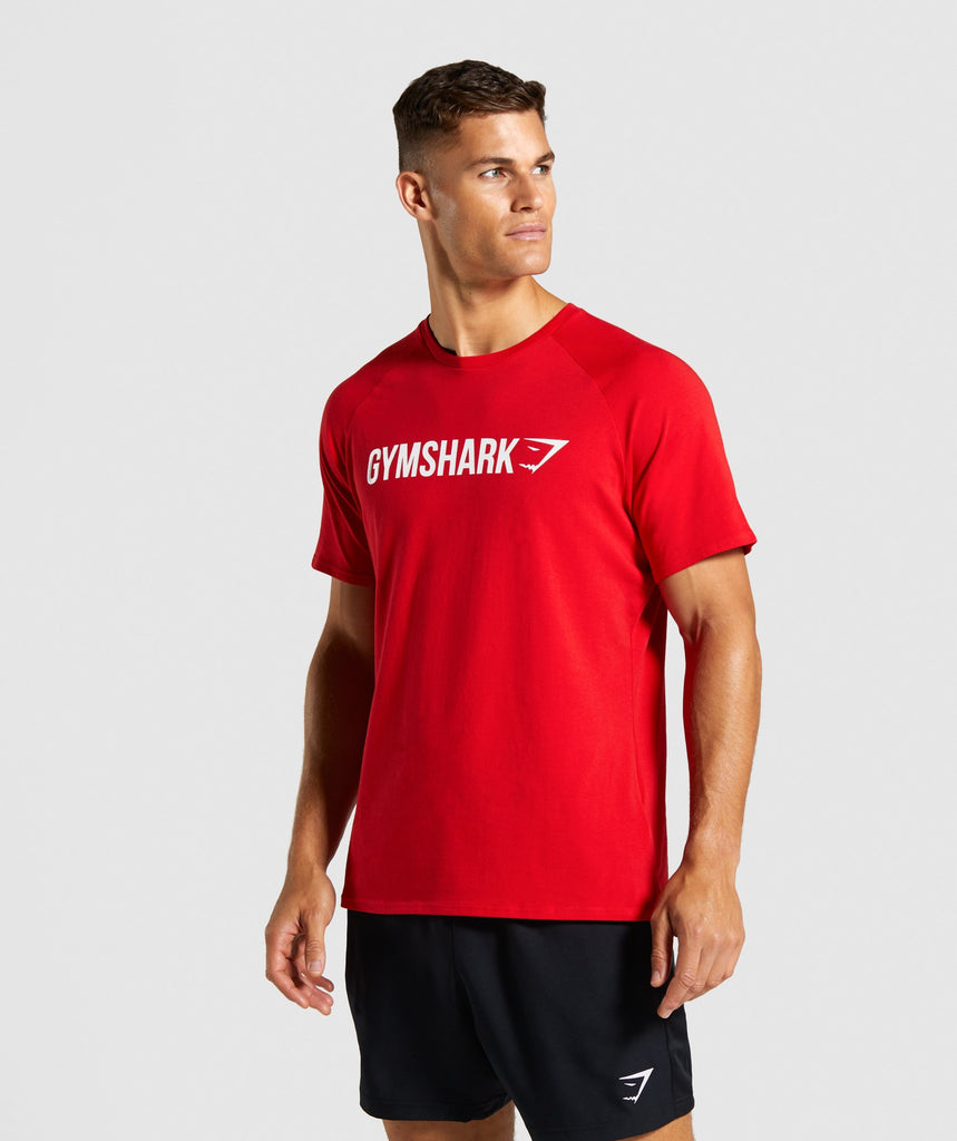Gymshark Apollo T-Shirt - Red 1