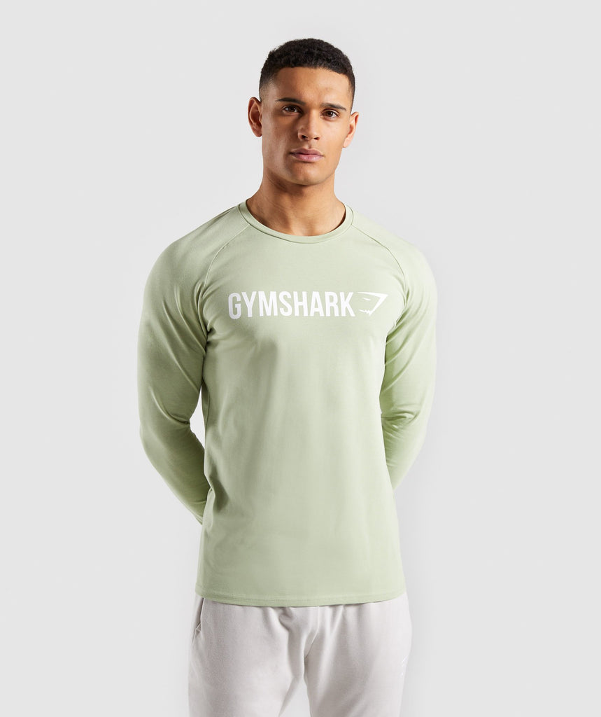 Gymshark Apollo Long Sleeve T-Shirt - Green 1