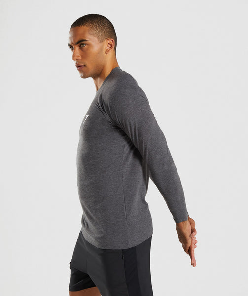 Gymshark Apollo Long Sleeve T-Shirt - Charcoal Marl 2