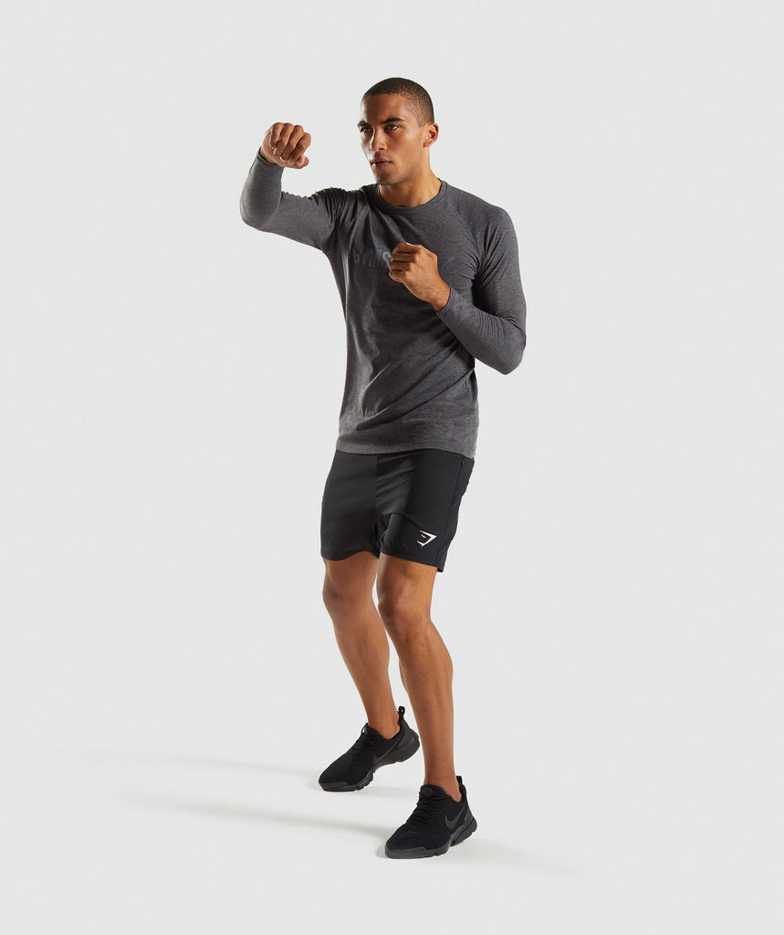 Gymshark Apollo Long Sleeve T-Shirt - Charcoal Marl 6