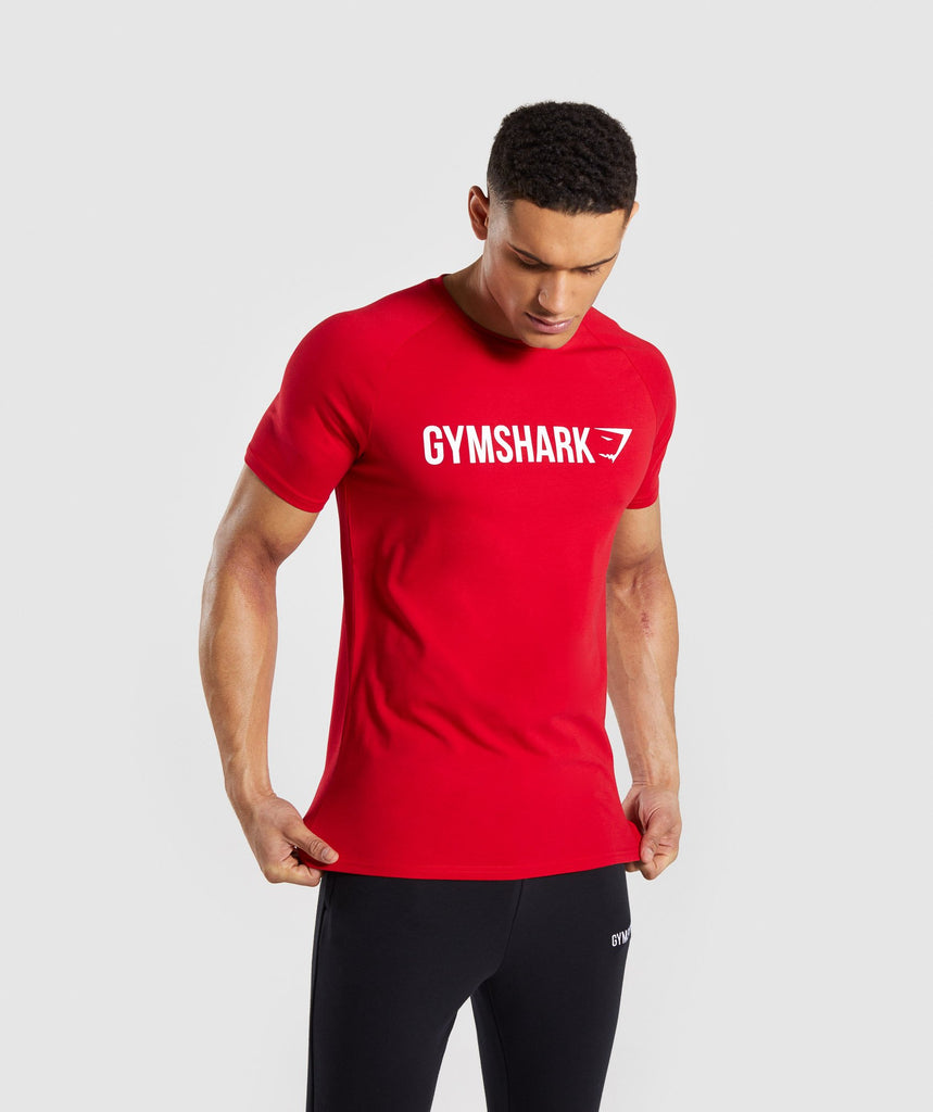 Gymshark Apollo T-Shirt - Red 4