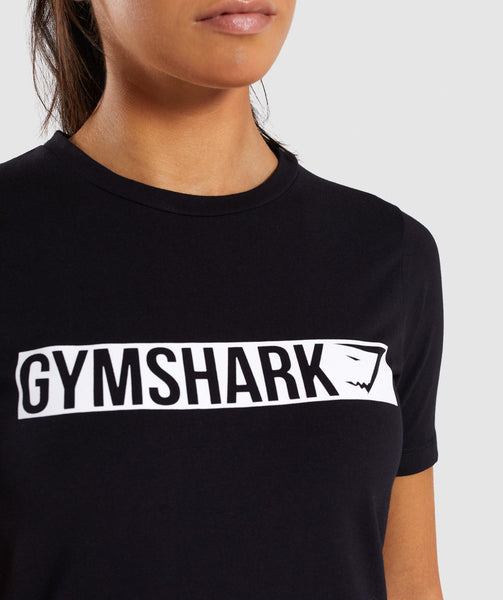 Gymshark Apollo T-Shirt 2.0 - Black/White 4