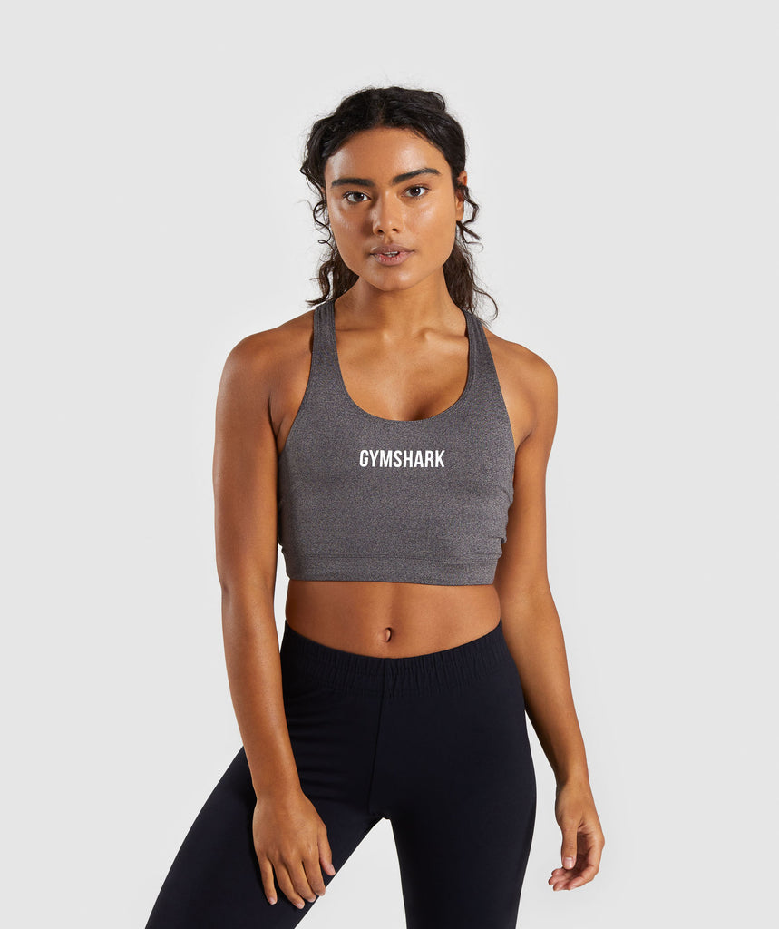 Gymshark Ark Sports Bra - Charcoal Marl 1