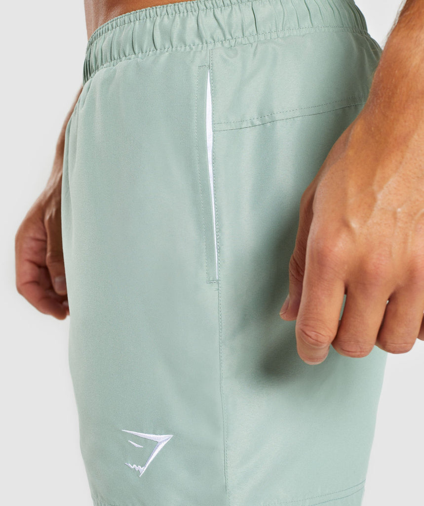 Gymshark Atlantic Swimshorts - Pale Green 6