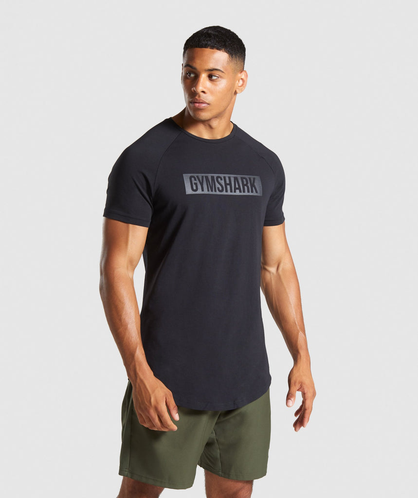 Gymshark Block T-Shirt - Black/Black 1
