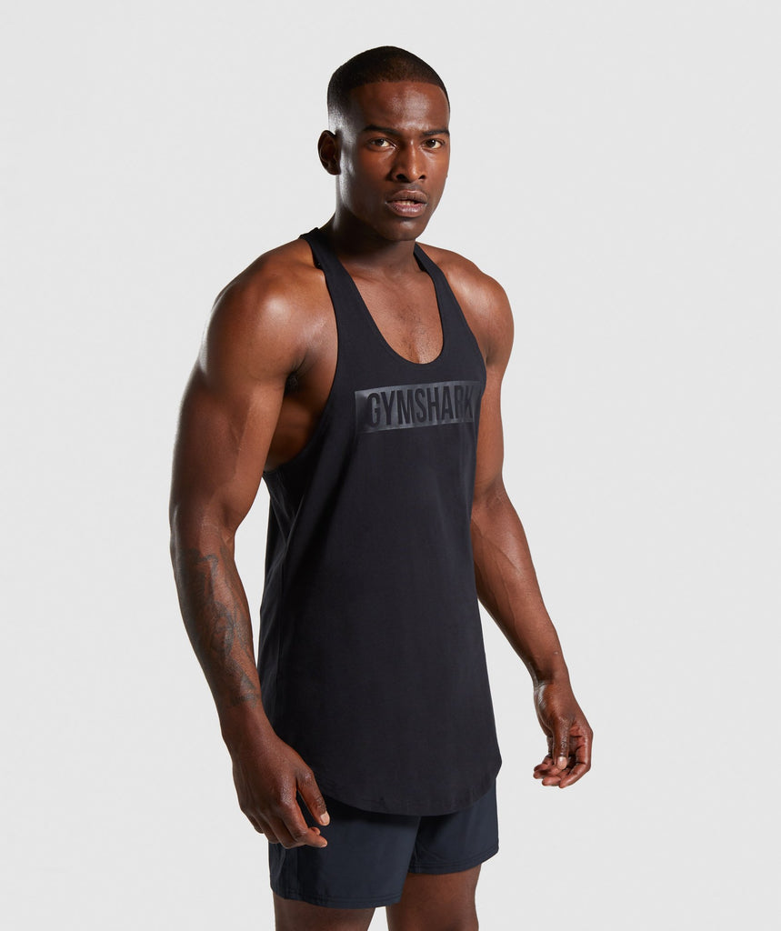 Gymshark Block Stringer - Black 1