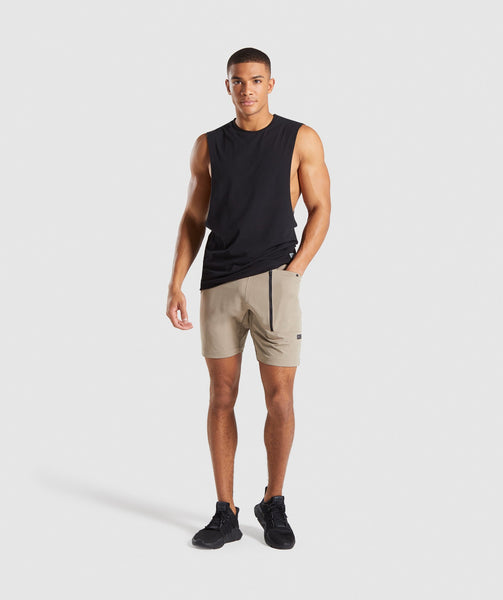 Gymshark Cargo Tech Shorts - Driftwood Brown 3