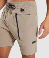Gymshark Cargo Tech Shorts - Driftwood Brown 11