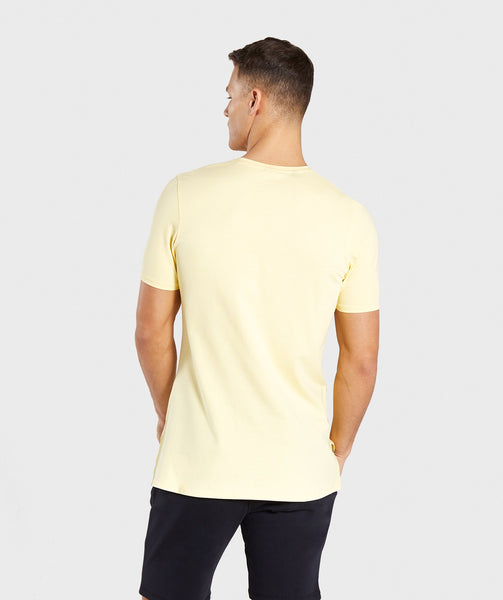 Gymshark Central T-Shirt - Yellow 4