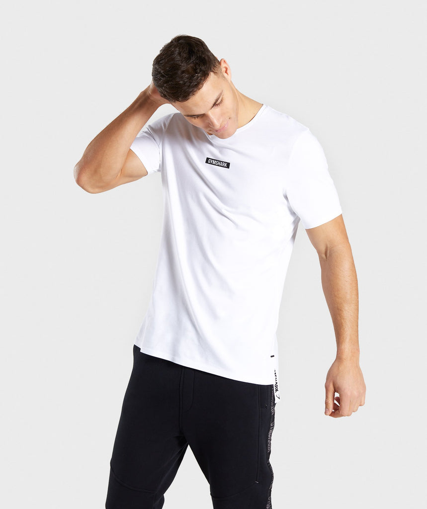 Gymshark Central T-Shirt - White 1