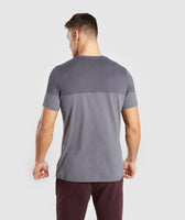 Gymshark Colour Block T-Shirt - Charcoal 8