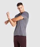 Gymshark Colour Block T-Shirt - Charcoal 9