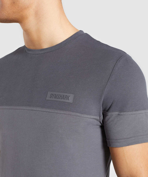 Gymshark Colour Block T-Shirt - Charcoal 4