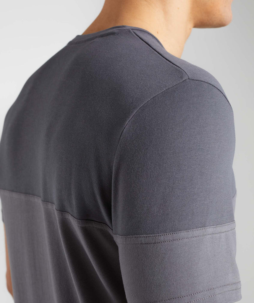 Gymshark Colour Block T-Shirt - Charcoal 6
