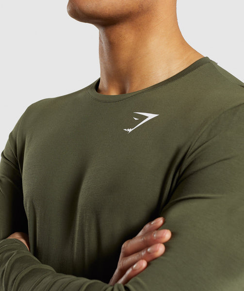 Gymshark Critical Long Sleeve T-Shirt - Green 4