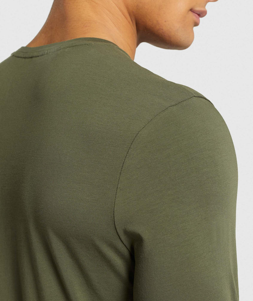Gymshark Critical Long Sleeve T-Shirt - Green 6