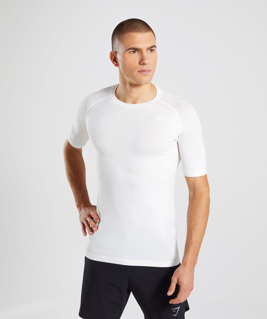 Gymshark Define Seamless T-Shirt - White 1