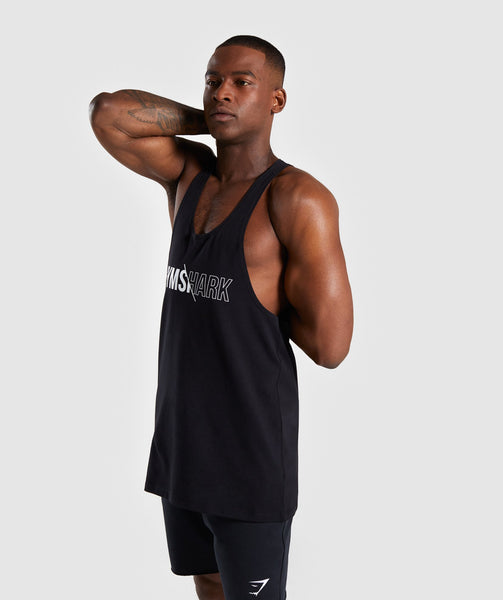 Gymshark Distort Stringer - Black 4