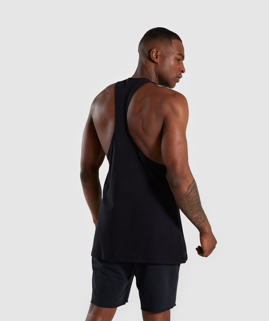 Gymshark Distort Stringer - Black 2