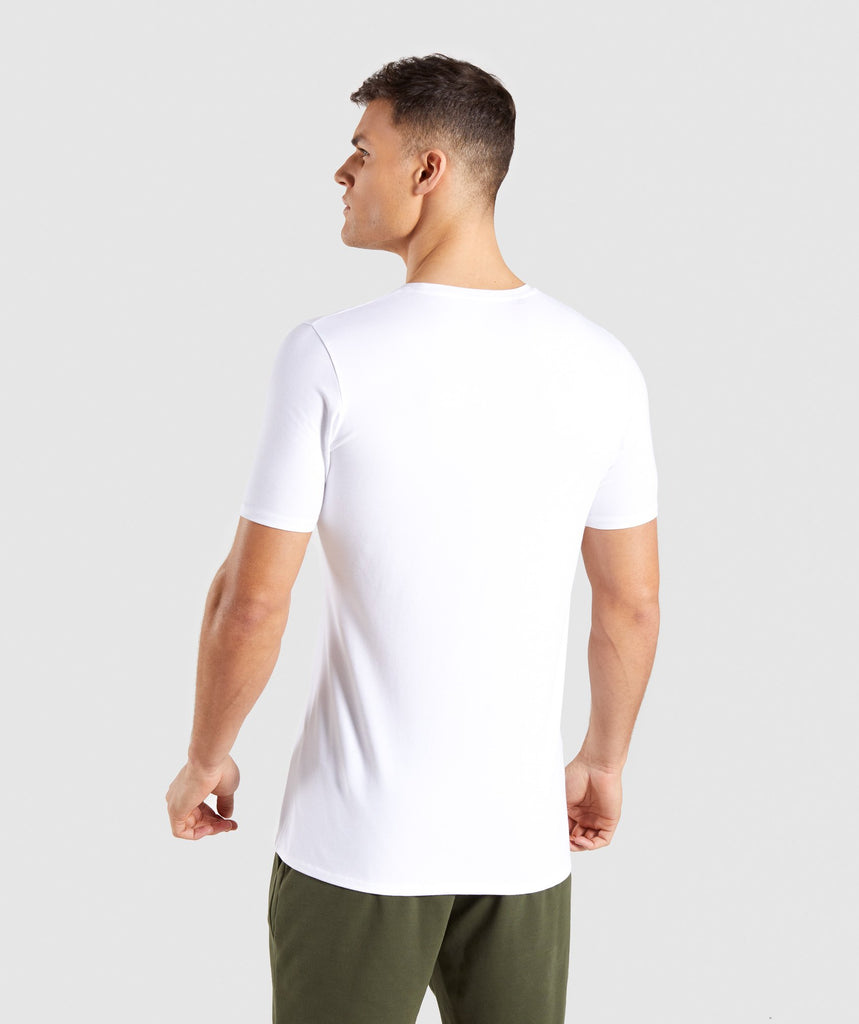 Gymshark Distort T-Shirt - White 2