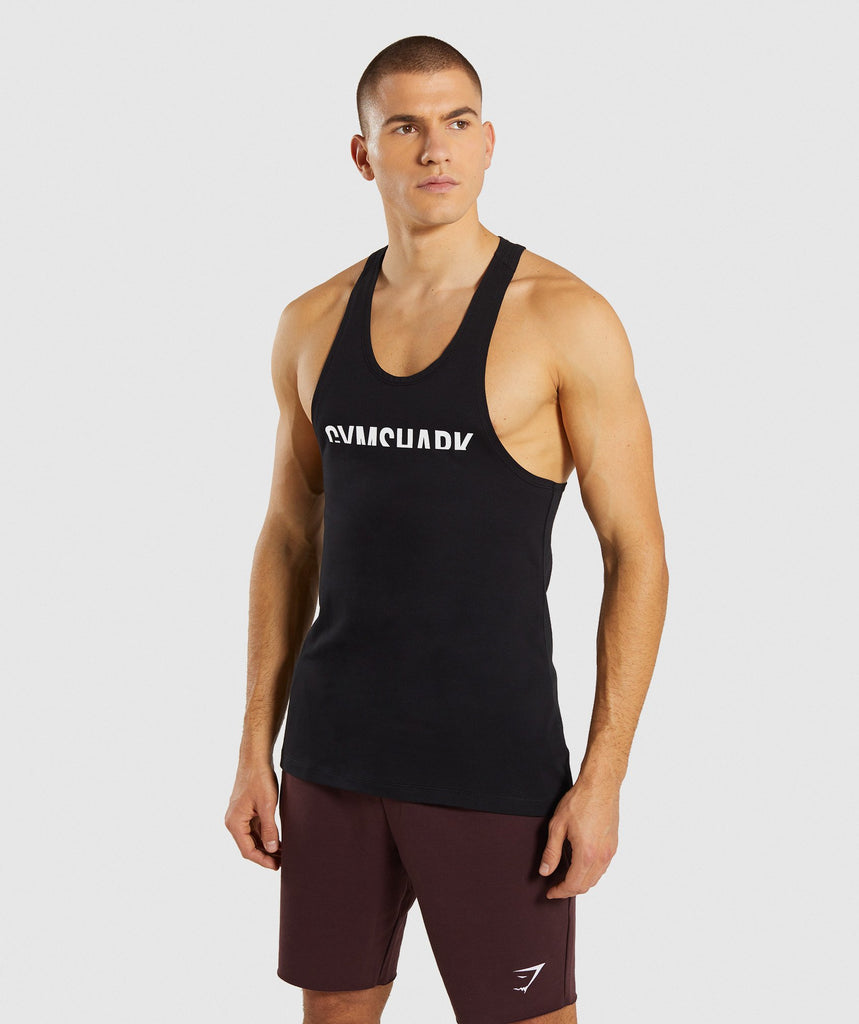 Gymshark Divide Stringer - Black 1