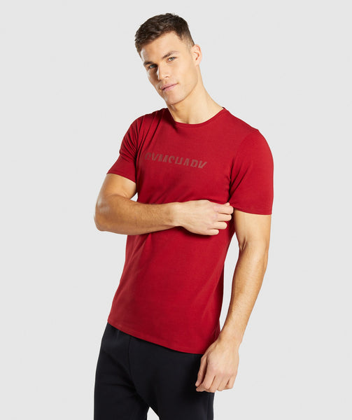 Gymshark Divide T-Shirt - Full Red 2