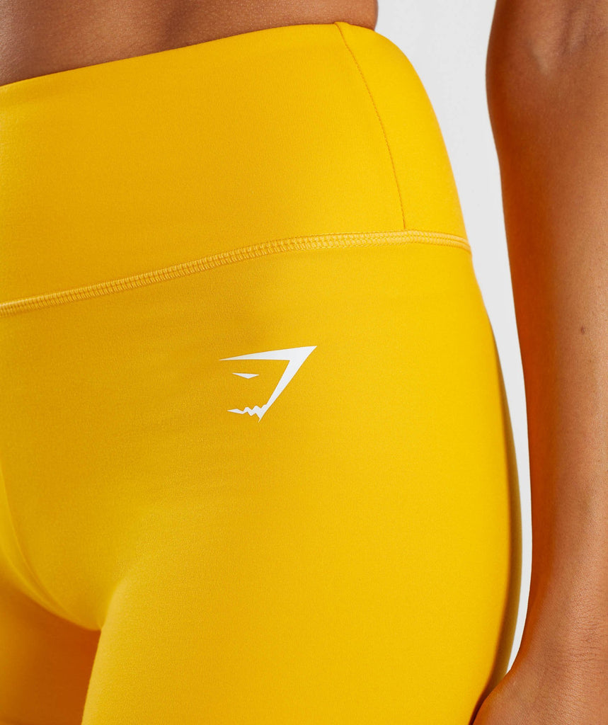 Gymshark Dreamy High Waisted Shorts - Citrus Yellow 5