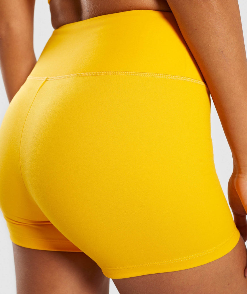 Gymshark Dreamy High Waisted Shorts - Citrus Yellow 6
