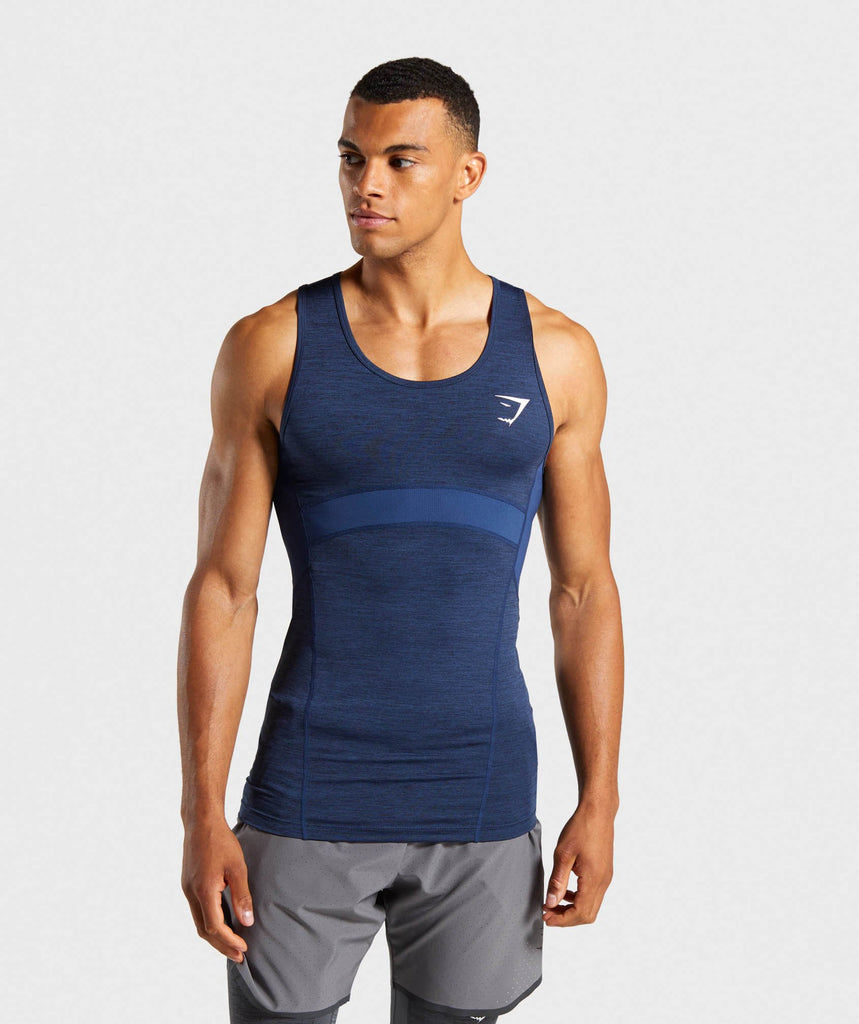 Gymshark Element+ Baselayer Tank - Dark Blue Marl 1