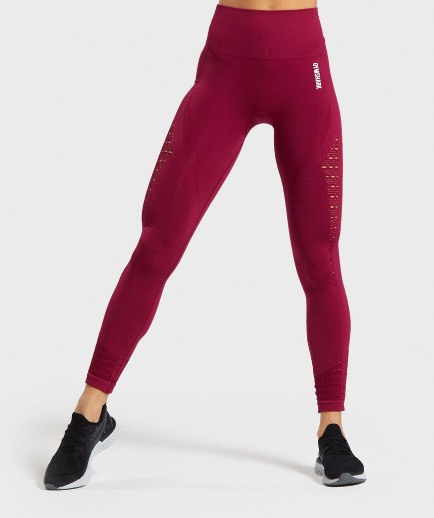 Gymshark Energy+ Seamless Leggings - Beet 1