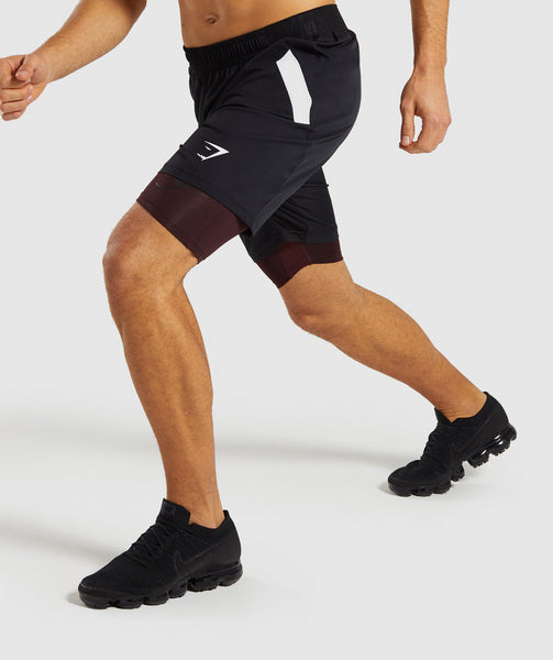 Gymshark Element+ Baselayer Shorts - Ox Red Marl 2