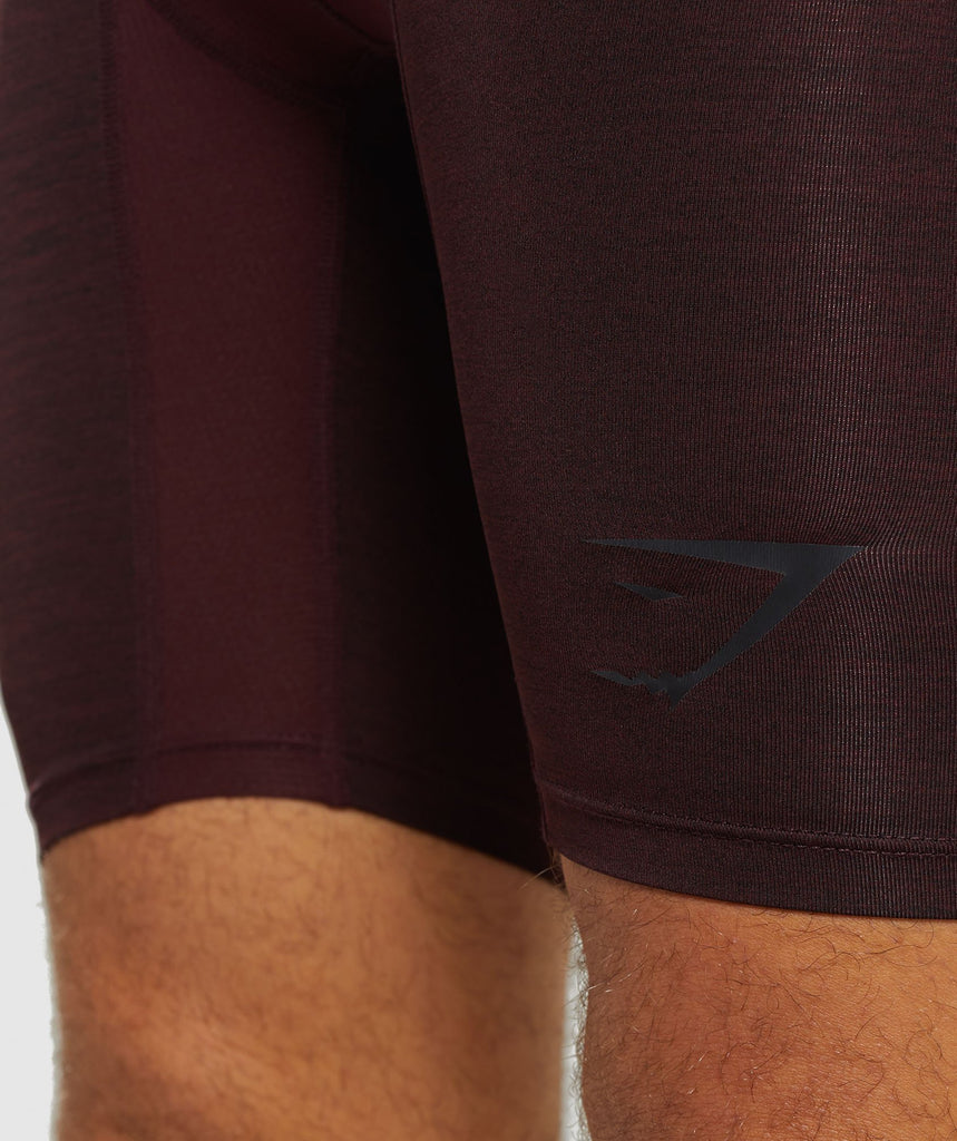 Gymshark Element+ Baselayer Shorts - Ox Red Marl 5