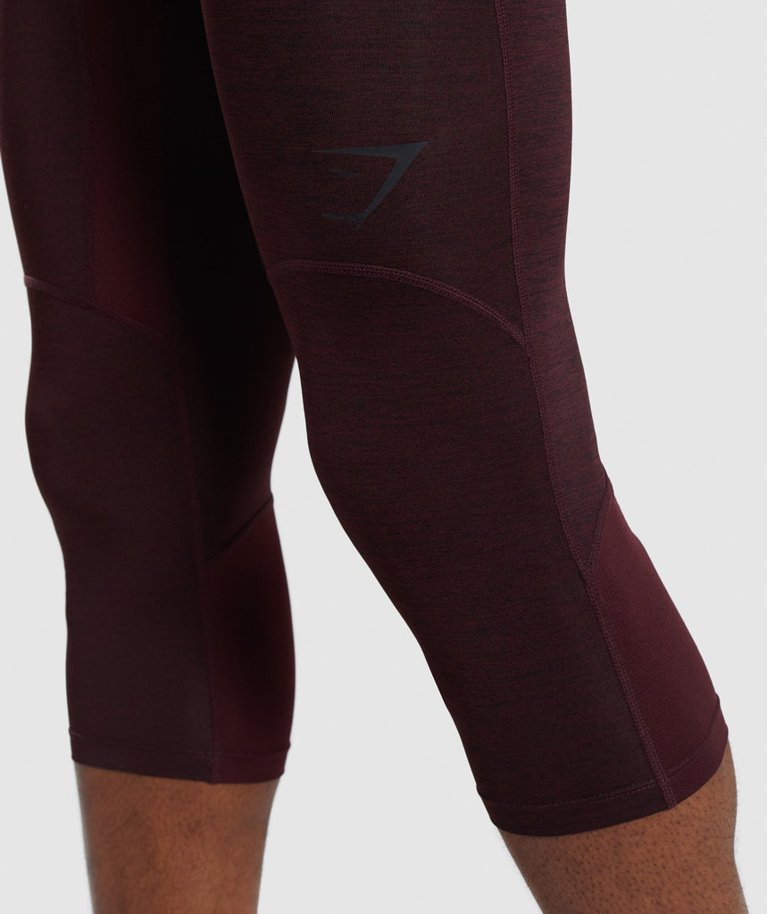 Gymshark Element+ Baselayer 3/4 Leggings - Ox Red Marl 5