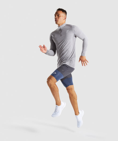 Gymshark Element+ Baselayer Shorts - Sapphire Blue Marl 3