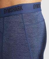 Gymshark Element+ Baselayer Shorts - Sapphire Blue Marl 11