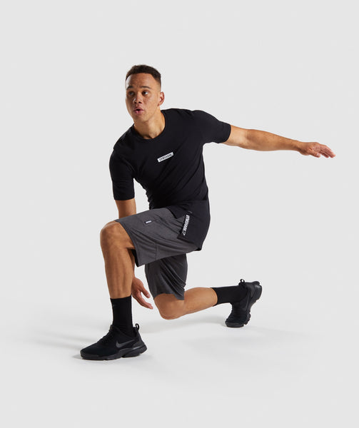 Gymshark Element Shorts - Black Marl 3