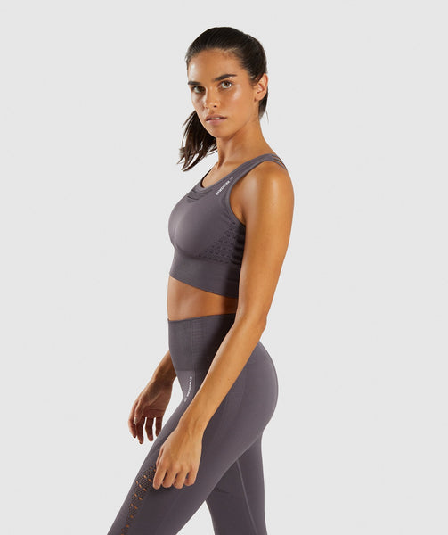 Gymshark Energy+ Seamless Crop Top - Slate Lavender 2