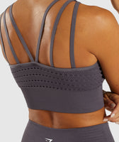 Gymshark Energy+ Seamless Crop Top - Slate Lavender 12