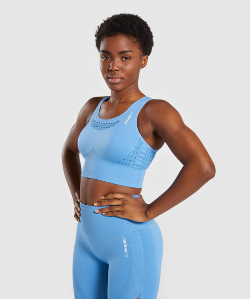 Gymshark Energy+ Seamless Crop Top - Blue 2